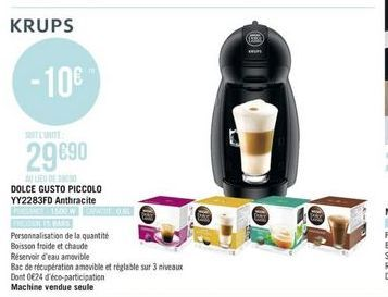 Machine à café nespresso Krups offre à