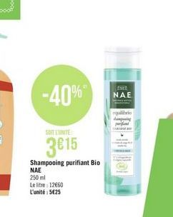 Shampoing purifiant BIO offre à