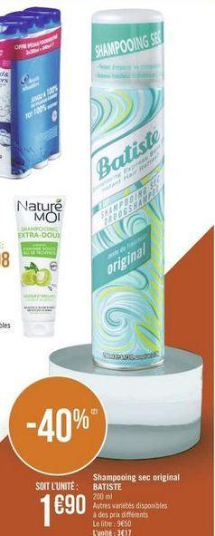 Shampoing Batiste offre à