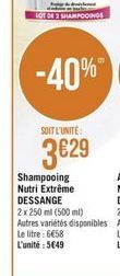 Shampoing offre à