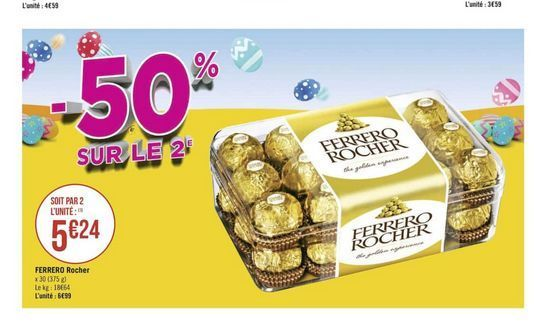 Bonbons Ferrero Rocher offre à