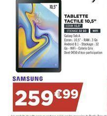 Tablette Samsung offre à