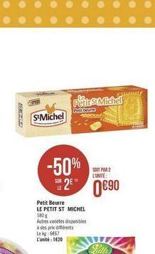 Biscuits St michel offre à