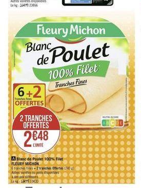 Poulet Fleury Michon offre à