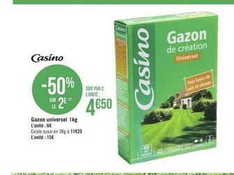 Gazon artificiel offre à