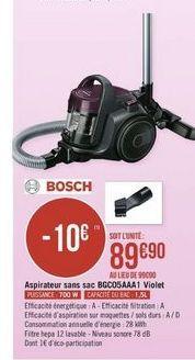 Aspirateur sans sac Bosch offre à