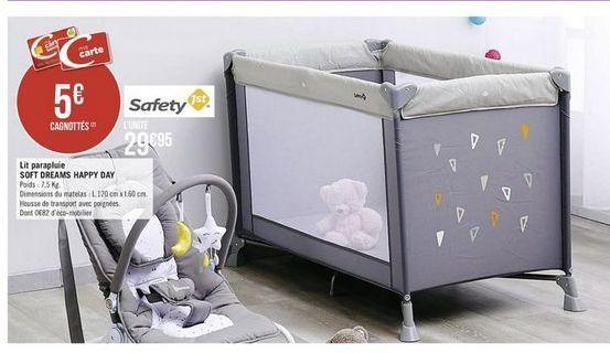 Lit parapluie bébé Safety offre à