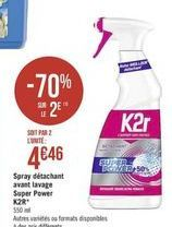 Spray désinfectant K2r offre à