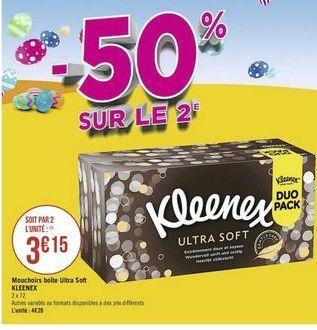 Mouchoir Kleenex offre à