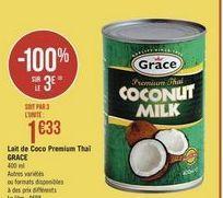 Lait de coco offre à