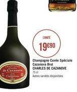 Champagne cuvé Spéciale  offre à