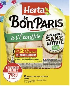 Jambon Le Bon Paris a l'Etouffee offre à
