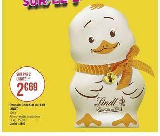 Poussin Chocolat au Lait LINDT offre à