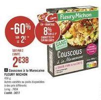 Couscous a la marocaine Fleury Michon offre à