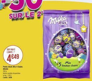 Petits Oeufs Mix 5 Gouts Milka offre à