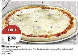 Pizza 4 fromages offre à