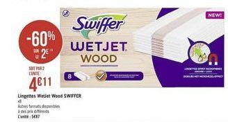 Lingettes WetJet Wood offre à