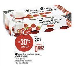Yaourt à la confiture fraises BONNE MAMAN offre à