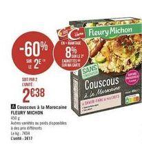Couscous à la Marocaine offre à