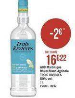AOC Martinique Rhum Blanc Agricole offre à