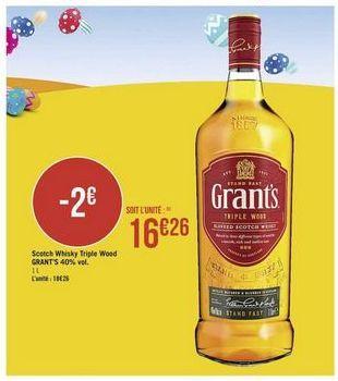 Scotch Whisky Triple Wood GRANT'S offre à