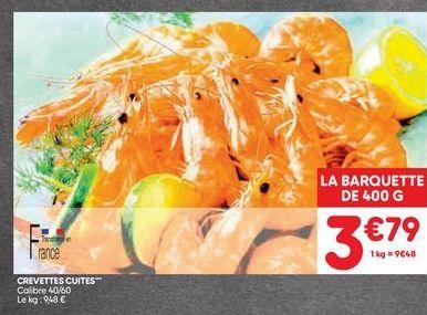 Crevettes cuites offre à 3,79€
