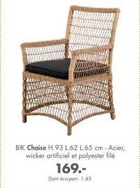 Chaise offre à 169€
