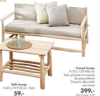 Canapé offre à 399€