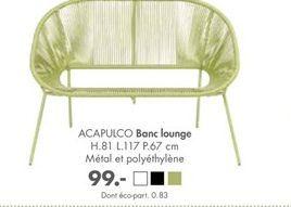 Banc offre à 99€