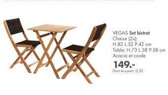 Ensemble table et chaises offre à 149€