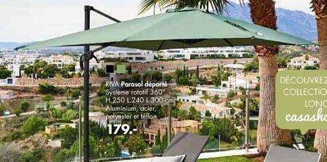 Parasol déporté offre à 179€