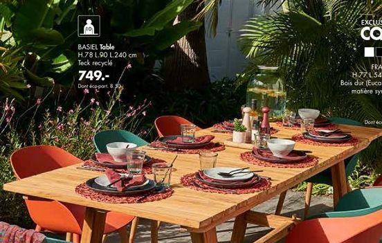 Table offre à 749€