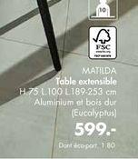 Table extensible offre à 599€