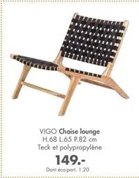 Chaise offre à 149€