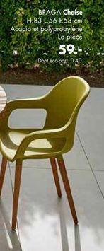 Chaise offre à 59€