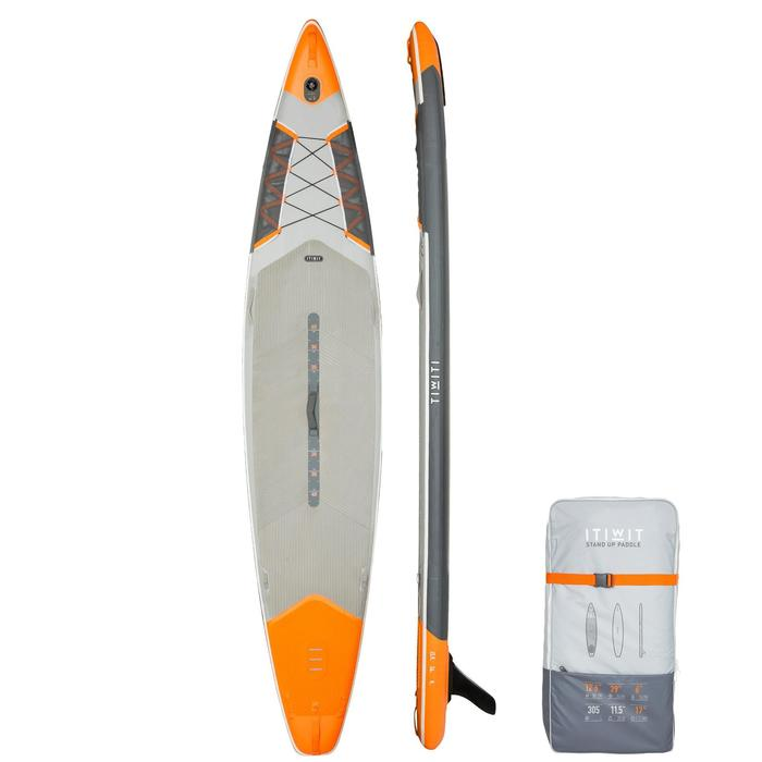"STAND UP PADDLE GONFLABLE RANDONNÉE 500 / 12'6-29"" ORANGE offre à 385€"