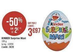 Kinder  surprise maxi offre à
