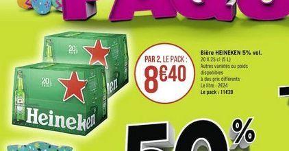 Bière Heineken offre à