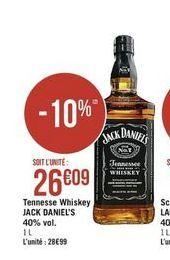 Whisky Jack Daniel's offre à