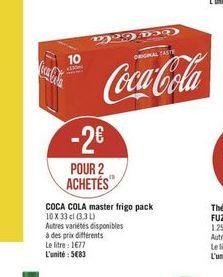Coca-cola offre à