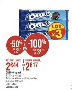 Biscuit Oreo  offre à