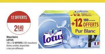 Mouchoir Lotus offre à
