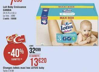 Changes bebes maxi box  Lotus baby offre à