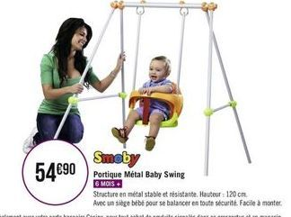 Portique Métal Baby Swing offre à