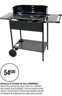Barbecue à charbon de bois CAMARGUE offre à