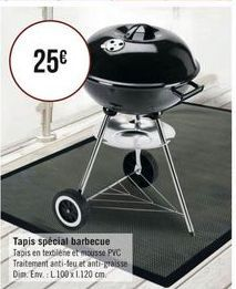 Tapis spécial barbecue offre à