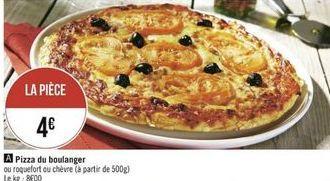 Pizza du boulanger offre à