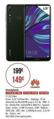 Smartphones Huawei offre à