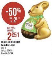 Ferrero Rocher famille lapin offre à
