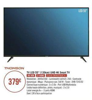 Téléviseur LED Thomson offre à